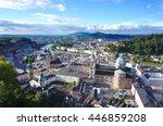 salzburg old town's cityscape.... | Shutterstock . vector #446859208