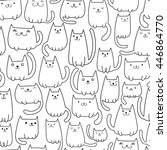 seamless vector pattern with... | Shutterstock .eps vector #446864770