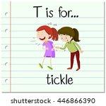 flashcard letter t is for...   Shutterstock .eps vector #446866390