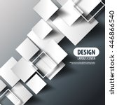 overlapping squares layout... | Shutterstock .eps vector #446866540