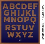 alphabet font .signs leather... | Shutterstock .eps vector #446867593