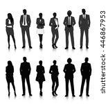 vector ui illustration business ... | Shutterstock .eps vector #446867953