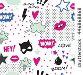 pop art print. vintage comics... | Shutterstock .eps vector #446868868