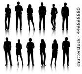 vector ui illustration business ... | Shutterstock .eps vector #446868880