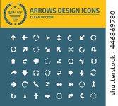 arrow sign icon set vector | Shutterstock .eps vector #446869780