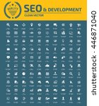 seo development icon set vector  | Shutterstock .eps vector #446871040