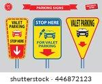 valet parking signs  free valet ... | Shutterstock .eps vector #446872123