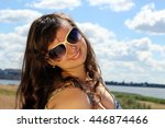 girl in glasses | Shutterstock . vector #446874466
