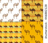 seamless pattern set with... | Shutterstock .eps vector #446882128