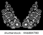 ethnic neck line embroidery... | Shutterstock .eps vector #446884780