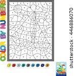 puzzle for kids. vector... | Shutterstock .eps vector #446886070