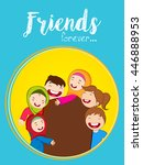 greeting  poster or flyer... | Shutterstock .eps vector #446888953