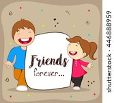greeting  poster  flyer or card ... | Shutterstock .eps vector #446888959