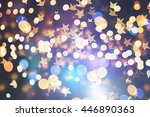 abstract blurred and silver... | Shutterstock . vector #446890363