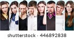 collage of people with a... | Shutterstock . vector #446892838