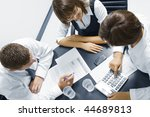 portrait of young business... | Shutterstock . vector #44689813