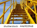 platform stairway up and down ... | Shutterstock . vector #446903968