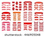 red ribbon banners set.... | Shutterstock .eps vector #446905048