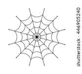 spider web clip. black cobweb... | Shutterstock .eps vector #446905240