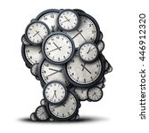 thinking time concept as a... | Shutterstock . vector #446912320