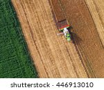 aerial view on the combine... | Shutterstock . vector #446913010