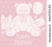 happy birthday card | Shutterstock .eps vector #446920150