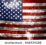 celebrating independence day.... | Shutterstock . vector #446924188