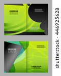 brochure bi fold template    Shutterstock .eps vector #446925628