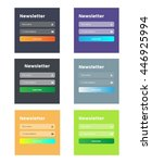 six newsletter templates. flat...