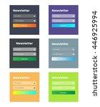 six newsletter templates. flat...