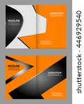 vector brochure template design  | Shutterstock .eps vector #446929540