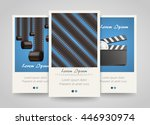 poster template for the movie ... | Shutterstock .eps vector #446930974