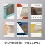 annual report brochure flyer... | Shutterstock .eps vector #446933968
