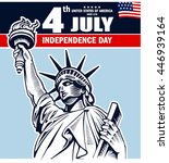 fourth of july independence day ... | Shutterstock .eps vector #446939164