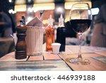 glassware in the interior of... | Shutterstock . vector #446939188