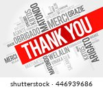 thank you word cloud background ... | Shutterstock .eps vector #446939686