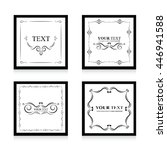 set of frame template black | Shutterstock .eps vector #446941588