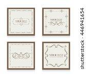 set of frame template  | Shutterstock .eps vector #446941654