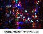 two shampagne glasses on... | Shutterstock . vector #446941918