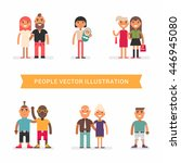 people of different age and... | Shutterstock .eps vector #446945080
