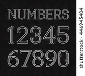 white numbers of dots and lines ... | Shutterstock .eps vector #446945404