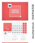 wall calendar planner print... | Shutterstock .eps vector #446946508