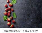 Fresh Garden Strawberry On...