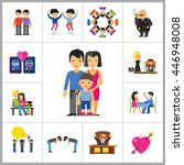 people icon set | Shutterstock .eps vector #446948008