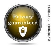 privacy guaranteed icon....   Shutterstock . vector #446948953