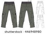 cargo pants vector template | Shutterstock .eps vector #446948980