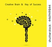 creative brain sign with key... | Shutterstock .eps vector #446949844