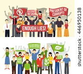 political and ecological... | Shutterstock .eps vector #446950138