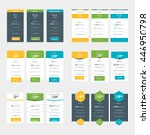 set of pricing table design... | Shutterstock .eps vector #446950798