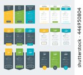 set of pricing table design... | Shutterstock .eps vector #446950804